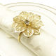 Christmas high quality plated metal Flower napkin ring for Wedding