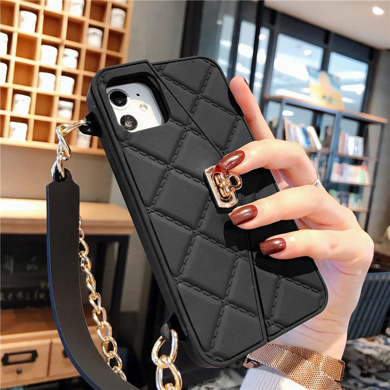 Messenger Crossbody bag with pocket shell silicone injection TPU lady faction design i x 11 phone case