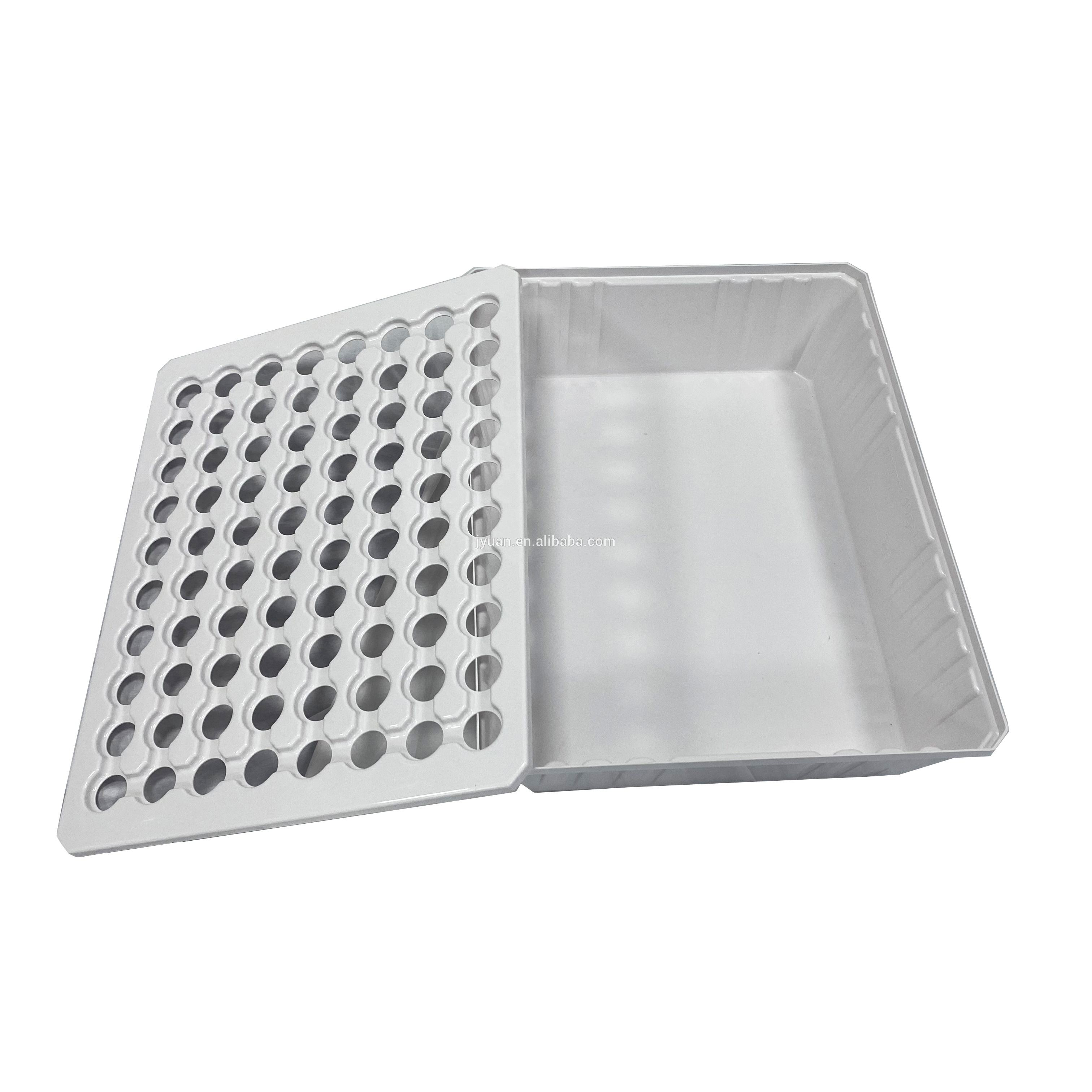 ABS Plastic Ebb And Flow Trays Grow Tray Hydroponic System Greenhouse 80 Holes Hydroponic Tray