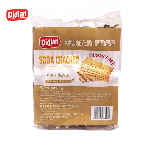 Packaging Customization Cheap Biscuits Cheap Biscuits Delicious New Yam Flavor Soda Cracker Biscuit