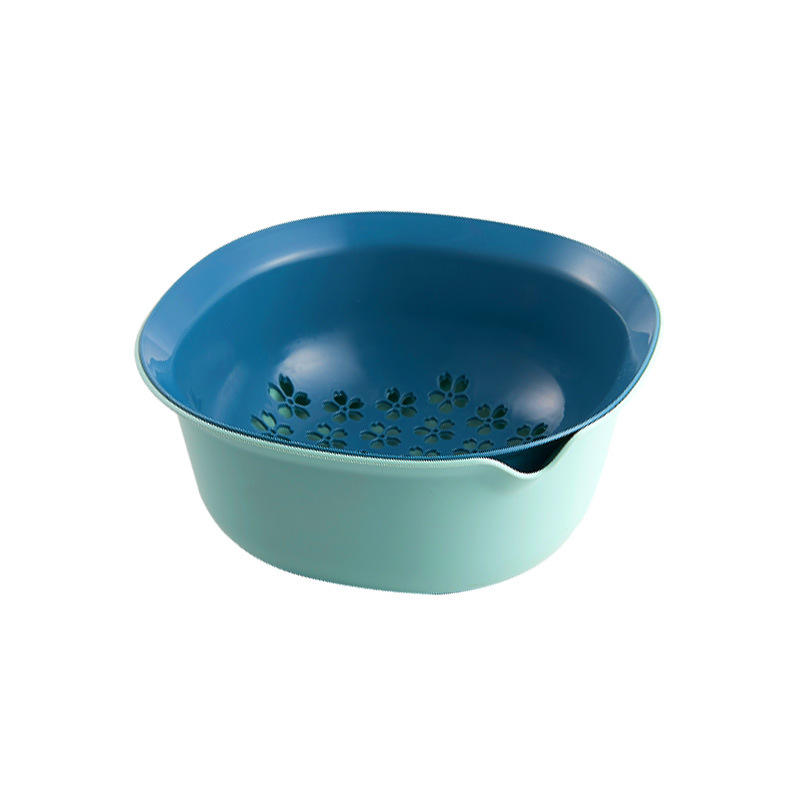 Sakura hole style kitchen drain basket home use plastic baskets for kitchen accessories plastic vegetable fruit basket