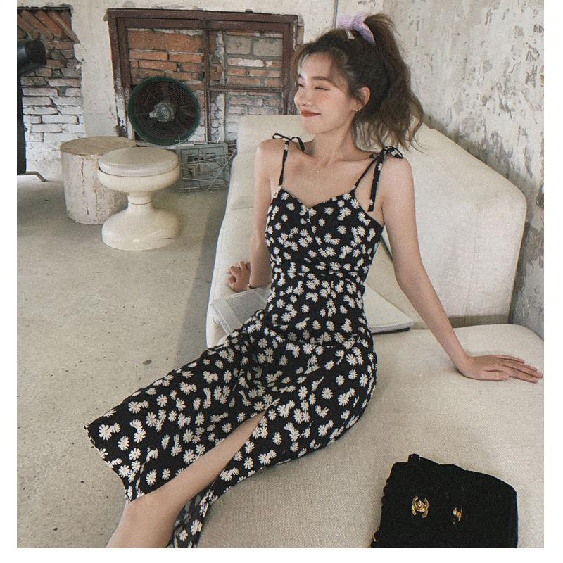 Summer New Arrivals Custom Women One piece Sleeveless Daisy Long Formal Dress
