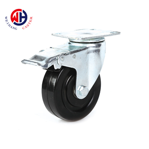 Weihang 3 inch rubber solid wheel tacktor ESD industrial trolley Castor Wheel
