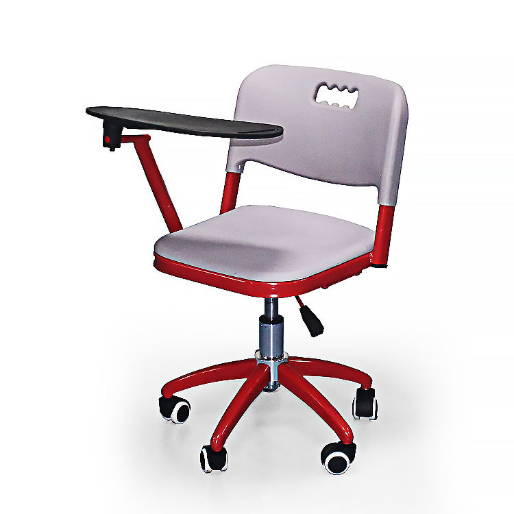 Strong armchairs furniture school chairs with aluminum tablet