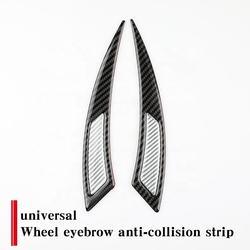 2PCS Car Wheel Eyebrow Protector Stick real carbon fiber front wheel rear wheel Universal Decoration Trims Strip