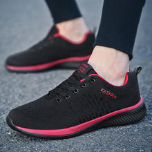 2020 New Fashion Men Women Flyweather Comfortable Breathable Non-leather Casual Light Size 45 Sport Mesh Jogging Shoes