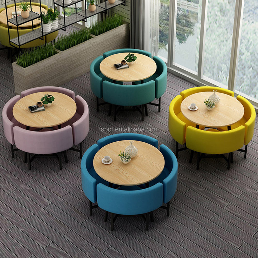 restaurant round dining tables and chairs fashion wrought iron table design cafe shop furniture