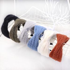 2020 new hair accessories pretty Mink fur knitted hair band hair accessories for women