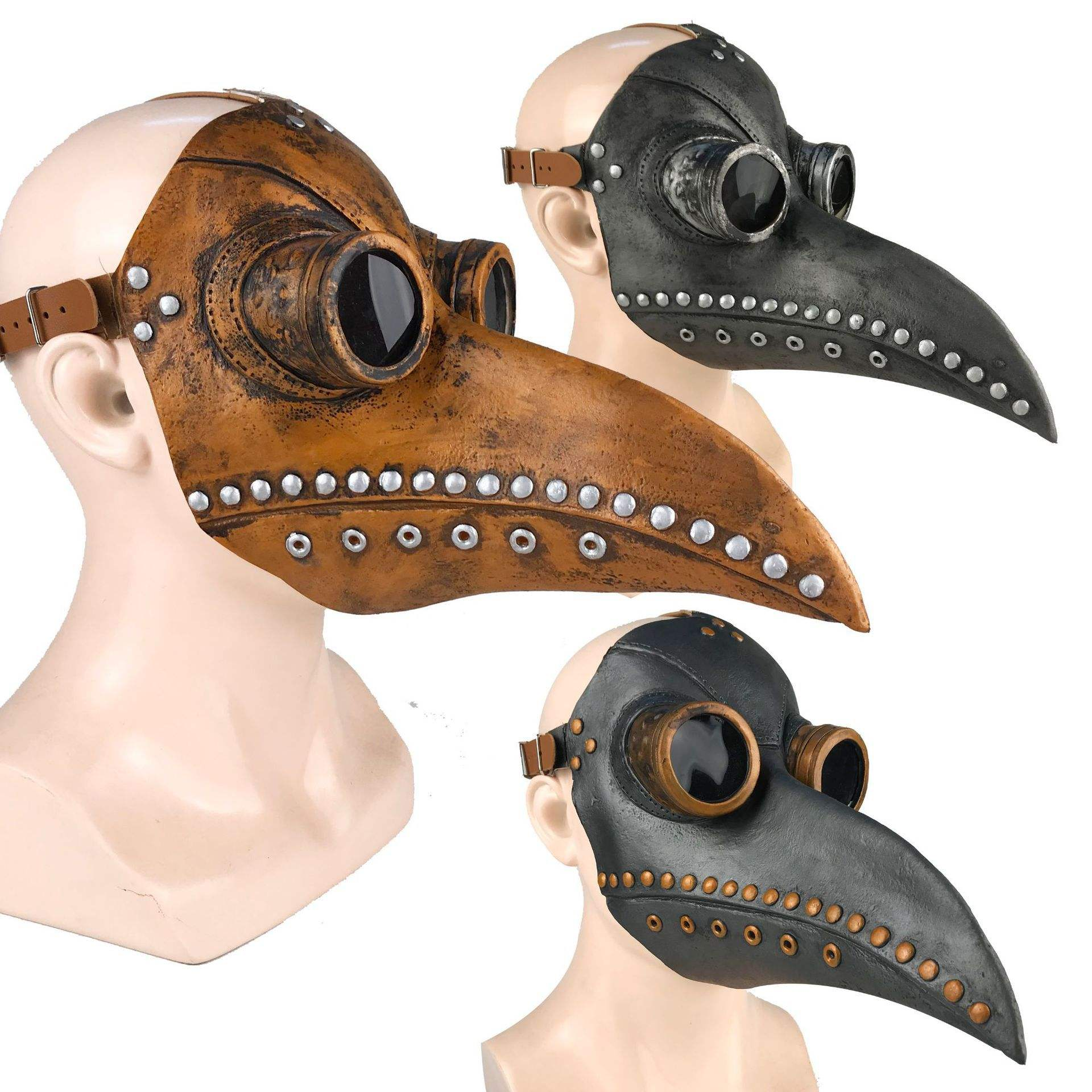 (Hottest)Halloween cosplay doctor plague mask,Halloween Costume doctor plague mask,latex plague Doctor mask for party decoration