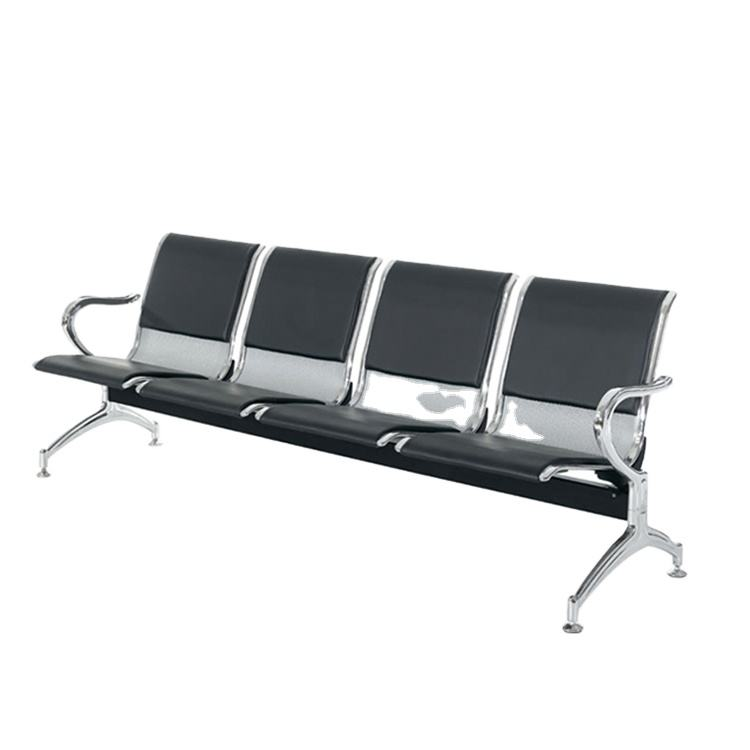 PVC 4 seats steel station airport metal waiting chairs W9601C-4
