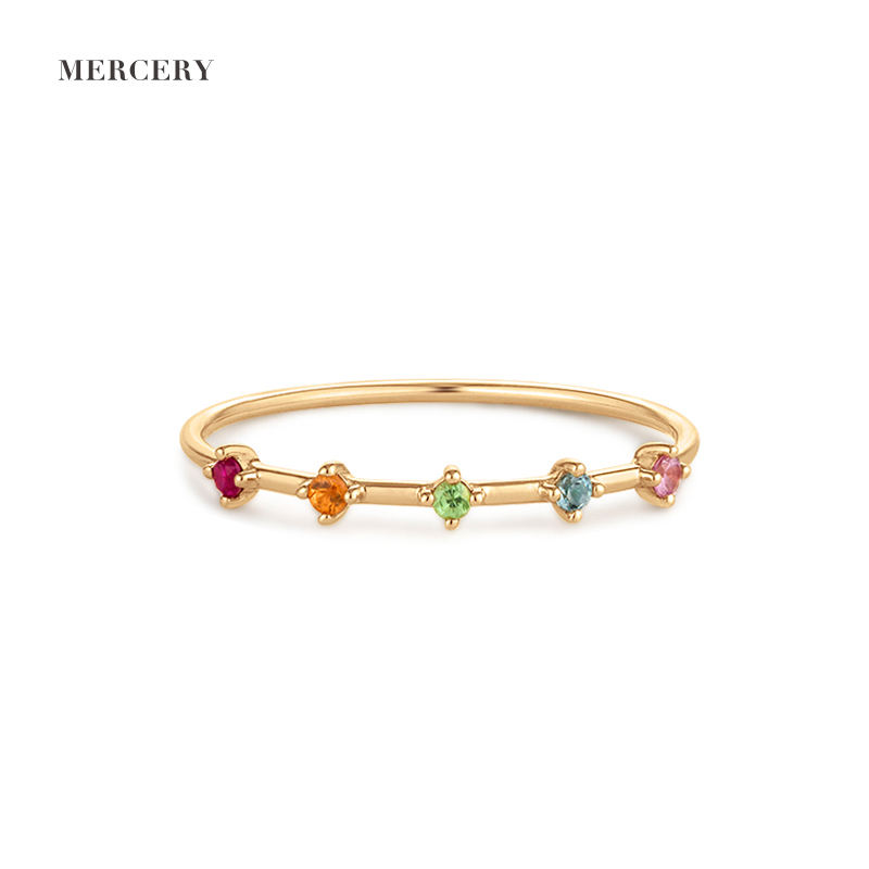 Mercery Solid Gold Ring 14K Marry Rings Jewelry Women Charm Luxury Gift Solid Gold Adjustable Rings