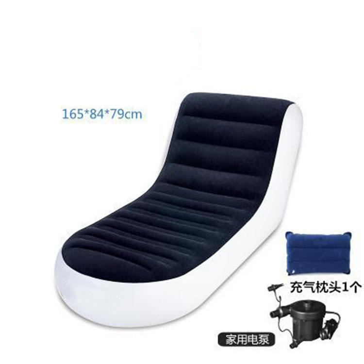 hot sale new style floating water lazy pvc inflatable furniture air laybag chair beach lounger seat sofa bed for sale