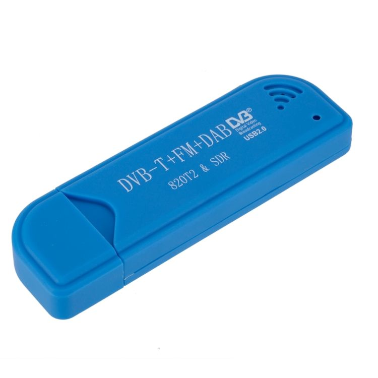 Colore blu Intelligente USB 2.0 ricevitore Digitale DVB-T SDR + DAB + FM <span class=keywords><strong>TV</strong></span> Tuner Stick R820T2