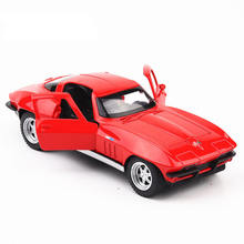 Diecast Model Muscle Car Corvet 1:32 Metal Alloy High Simulation Cars Lights Boys Toys Vehicles Gifts For Kids Children