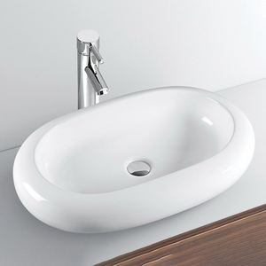 Coronis personalise hotel washbasin bathroom ceramic sink counter top oval solid surface hand wash basin