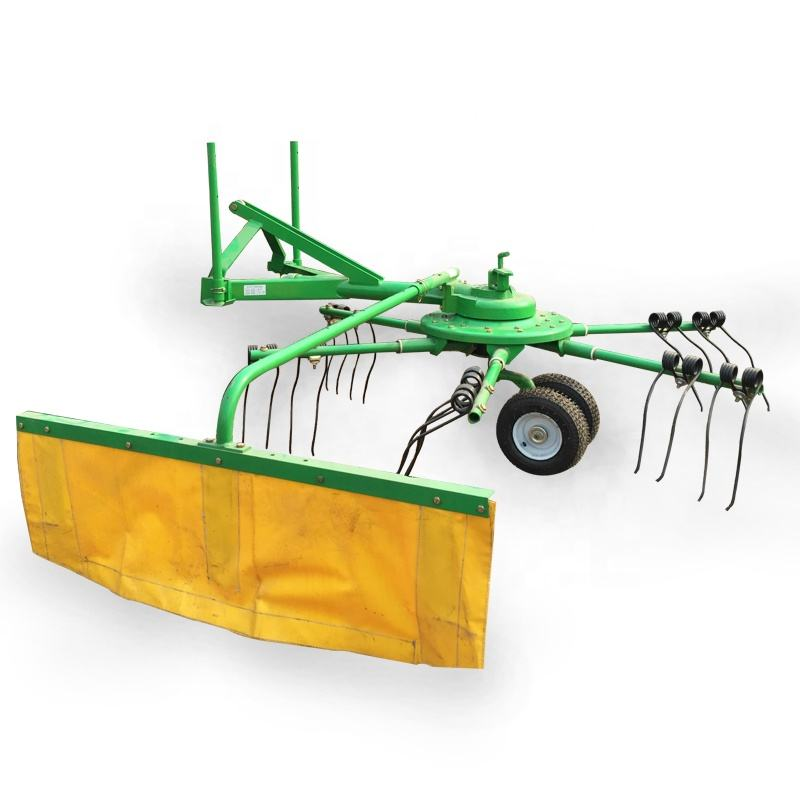 Highly Efficient Tractor Mounted Hay Rake 3 Point Suspension Driven Hay Rake & Grass Tedder