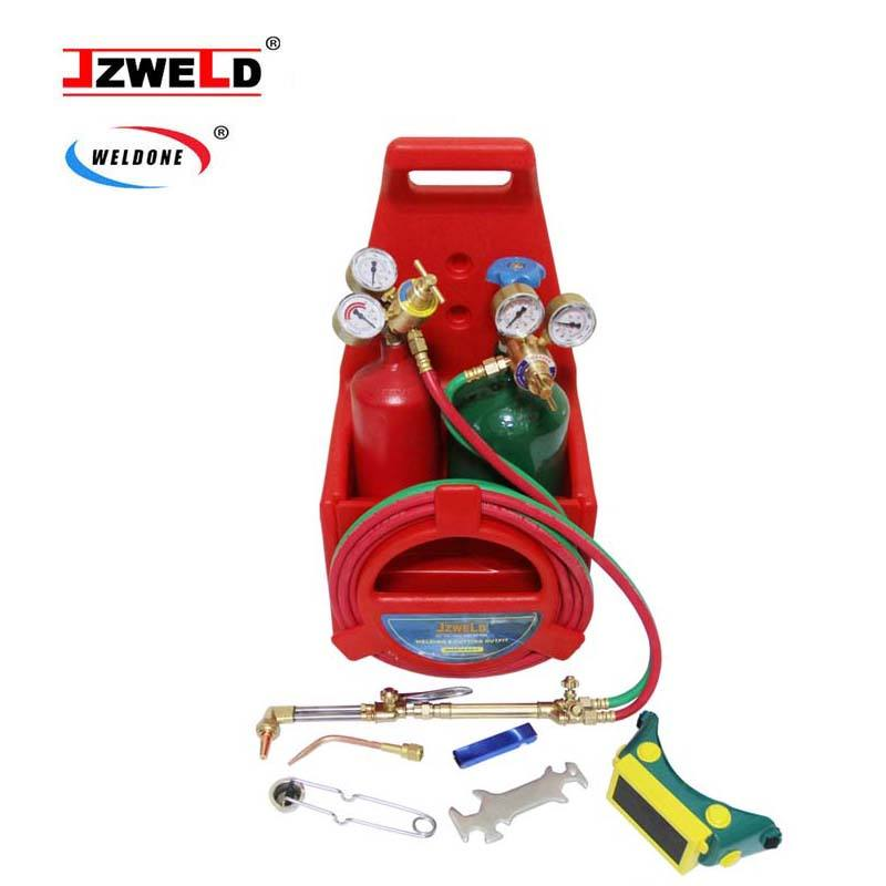 Portable Welding Cutting Outfit Torch Tool Kit With Acetylene Oxygen Cylinders, Portable Welding Cutting Tool Kit Outfit