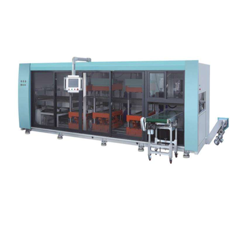 Automatic Plastic PET Clamshell Box Thermoforming /Making Machine 680/450