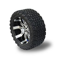 22*10-14 inch Golf Cart Wheels and offroad Tires Combo
