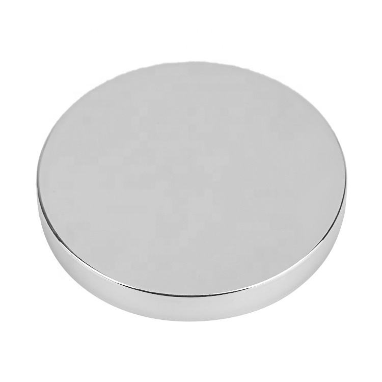 Round Shape [ Candle Jar ] High Quality Tin Candle Cover Silver Candle Jar Lid Toppers Candle Jar Lids Factory