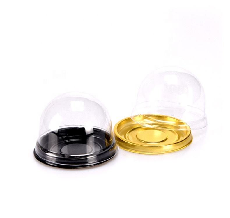 Mini dome cupcake packaging clear plastic round cake box