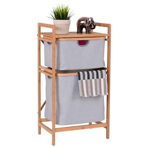 New Style wooden laundry basket wire wicker basket