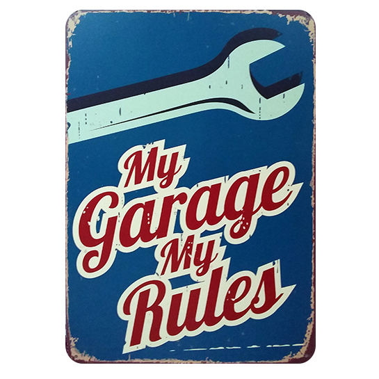 wholesale vintage garage metal sign board tin plate for home design