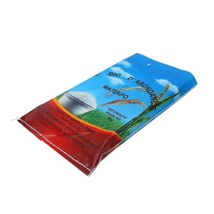 Wholesale Portable 25kg 50kg Bag Grain PP Woven Rice Bag