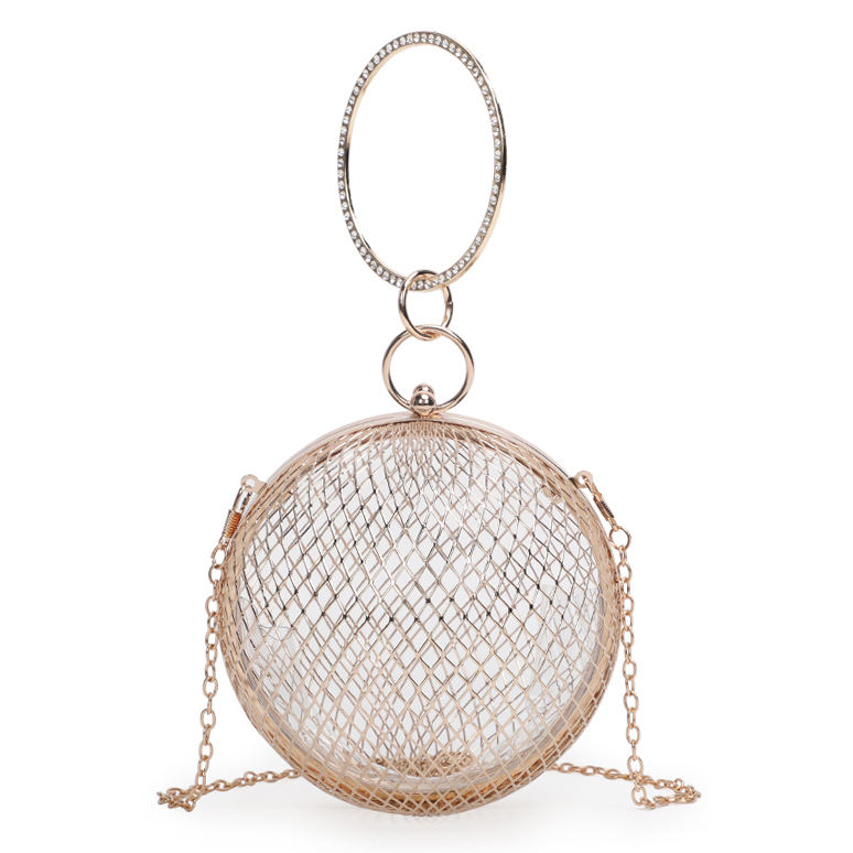 New fashion hollow out heart evening clutch bags shoulder bag Evening Bag wholesale clear handbags factory price in china MOQ2