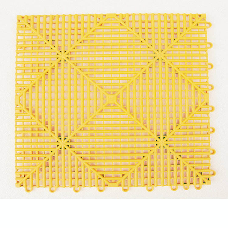 PP Interlocking Mat Anti Slip Interlocking Drainage Garage Floor Tiles Plastic Floor Grating