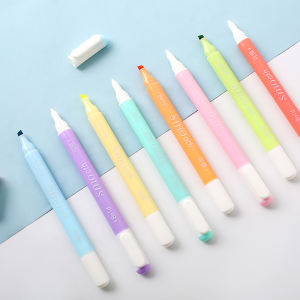 8pcs Neon Color Double Headed Fluorescent Erasable Pen