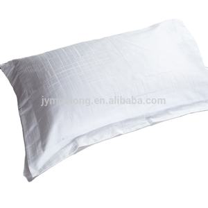 100 Cotton White Jacquard Hotel Washable Linen Custom Pillow Case