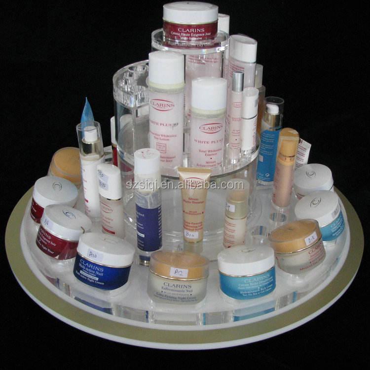 Sản xuất Vẻ Đẹp Mỹ Phẩm Xoay Acrylic Nail Polish Tủ Rack Rack Hiển Thị/Quay Son Môi Tháp