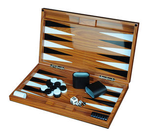 Wholesale High Gloss MDF Wooden 18'' Backgammon Game Set