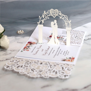 Pop up Wedding Cards Anniversary 3D Pop up Wedding Card 3D Valentine's Day Card Anniversary Wedding Invitations
