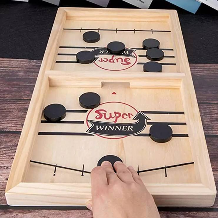 super winner Large Size Fast Sling Puck Board Game