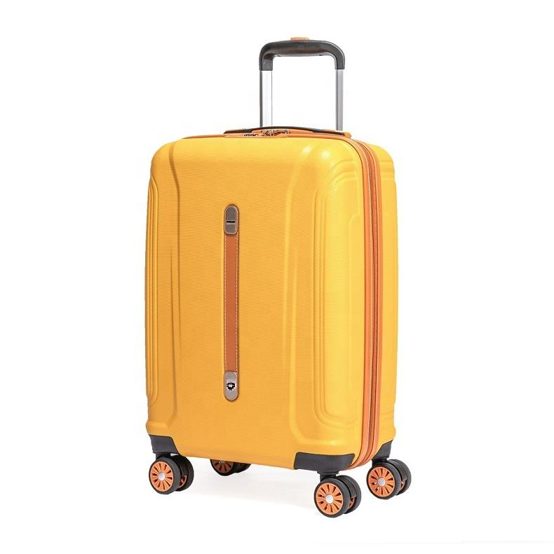 VERAGE ABS hardside with pu leather spinner Wheels carron Luggage for travel