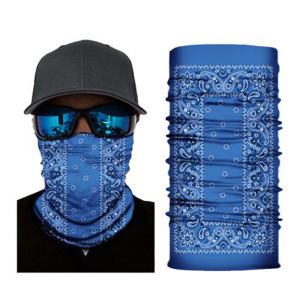 Multifunction 3d seamless blue sport tubular bandana supplier