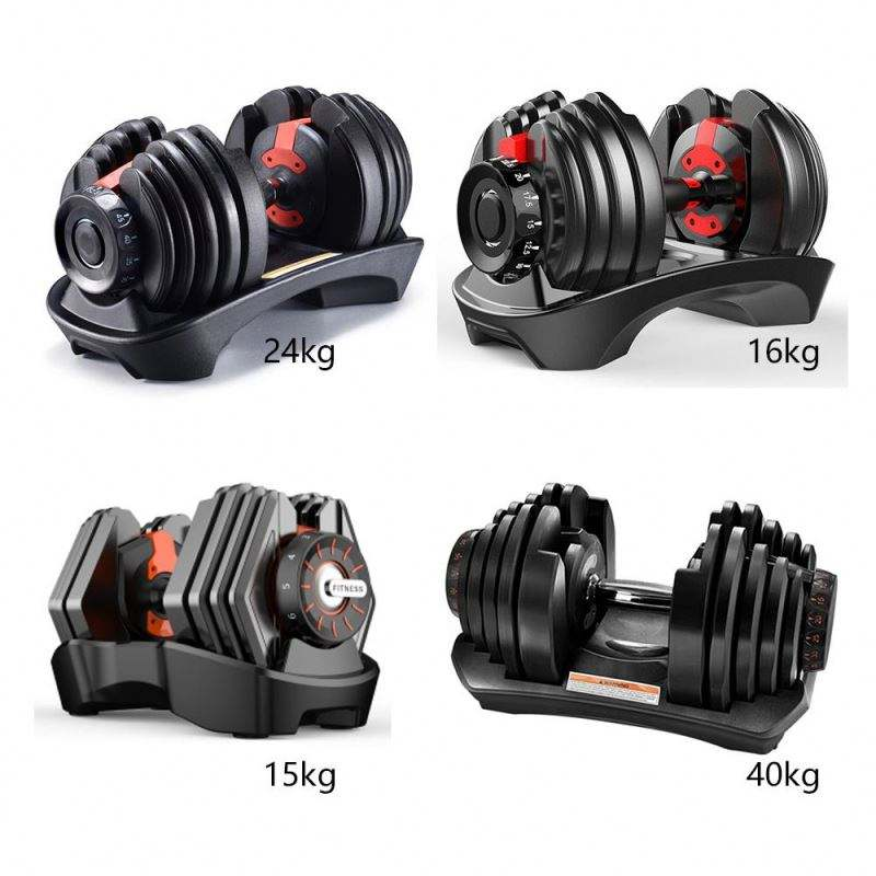 Wholesale In Stock Dumbells Dumbell Adjustable Weight Dumbbell Set