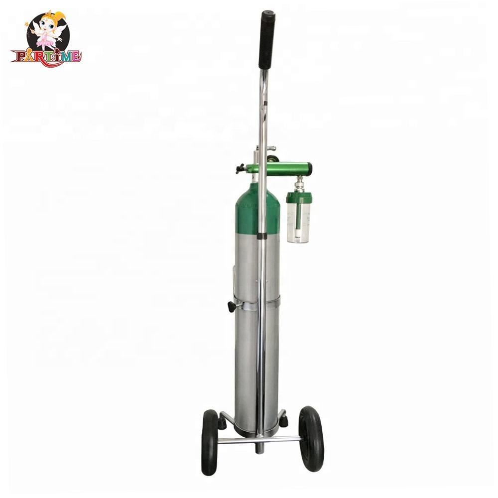 13.4 Liter Aluminum Small Medical Portable Oxygen Cylinder With Trolley
