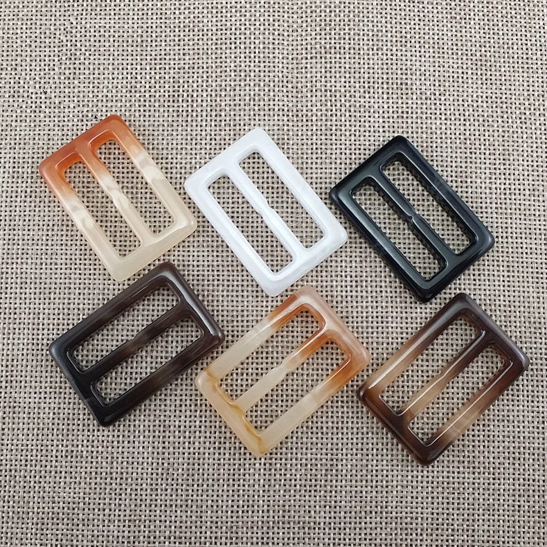 Adjustable Plastic Lady Rectangle Coat Custom Square Resin Belt Buckles