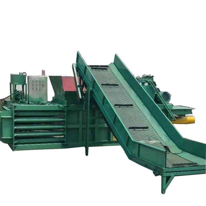 automatic cardboard horizontal baler Manual tie baler auto plastic pet bottle strapping baler