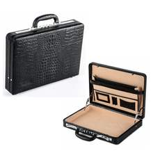 High quality genuine leather briefcase/brief case with secure locks