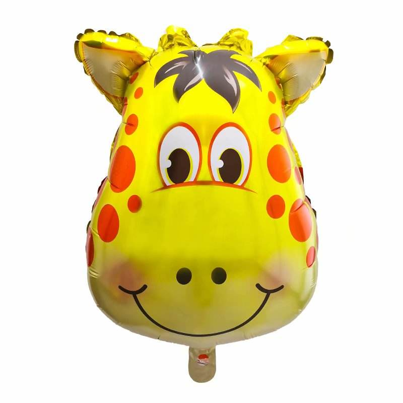Wholesale Giant Animal Tiger Cow Giraffe Monkey Pig Lion Head Foil Balloon Kids Toys Baby Shower Party Decoration
