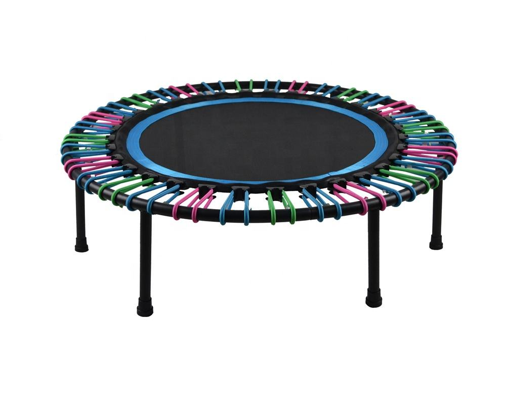 Mini Trampoline 40inch Fitness Rebounder for Adults Indoor Workout bungee rope suspension quiet soft jumping
