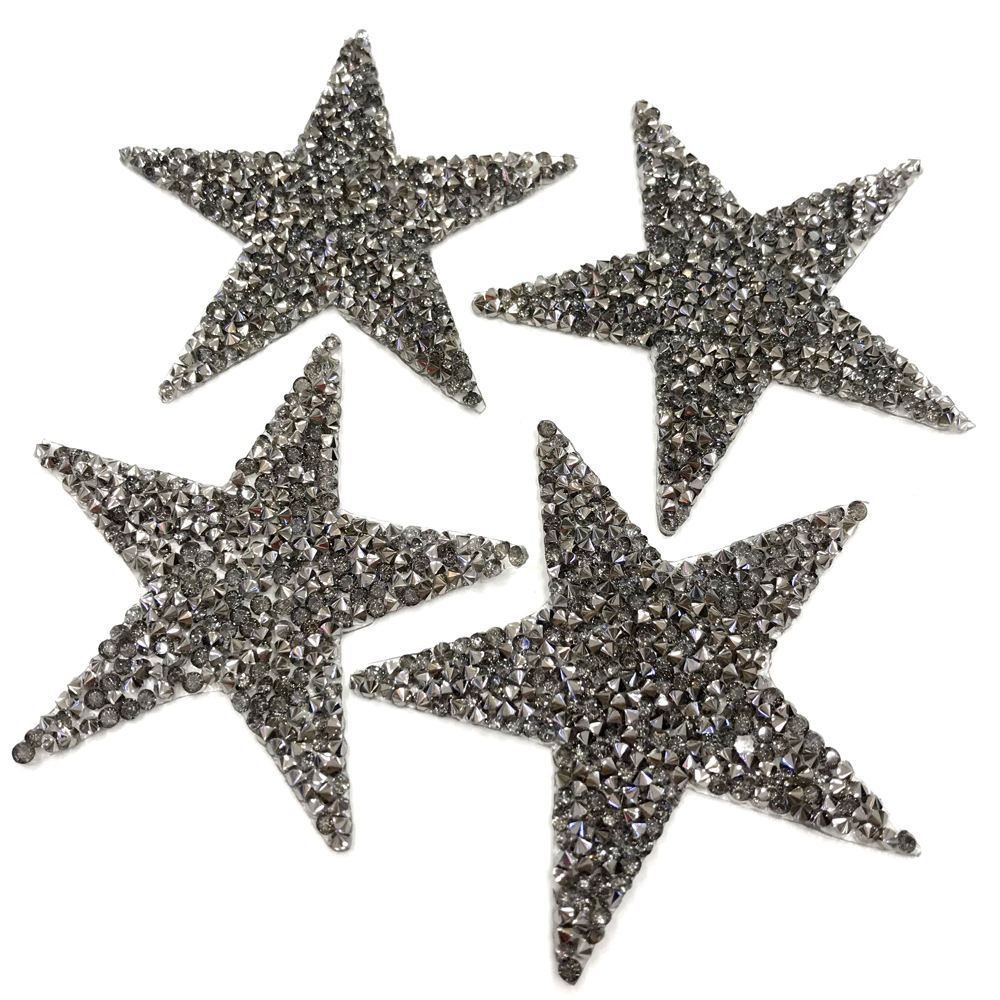 tr501 bling bling iron on resin rhinestone patch star rhinestone applique