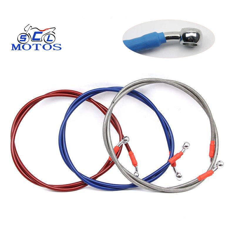 P/N 28 colorful Iron. Stainless steel joint brake line motorcycle brake hose Without Spring