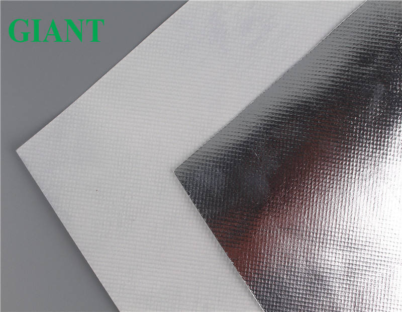 factory supplied aluminum foil coated polyester nonwoven fabric reflective mylar fabric roll