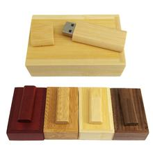 mini usb flash drive for Laptop PC tv Customize logo wood shell housing 16GB 32Gb 64 GB usb pen drive  USB 3.0 2.0  flash memory