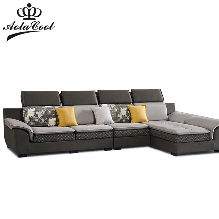 High Quality European Luxury Living Room Furniture Sets Fabric Reclining Sofa Set Designs Modern Solid Wood Frame